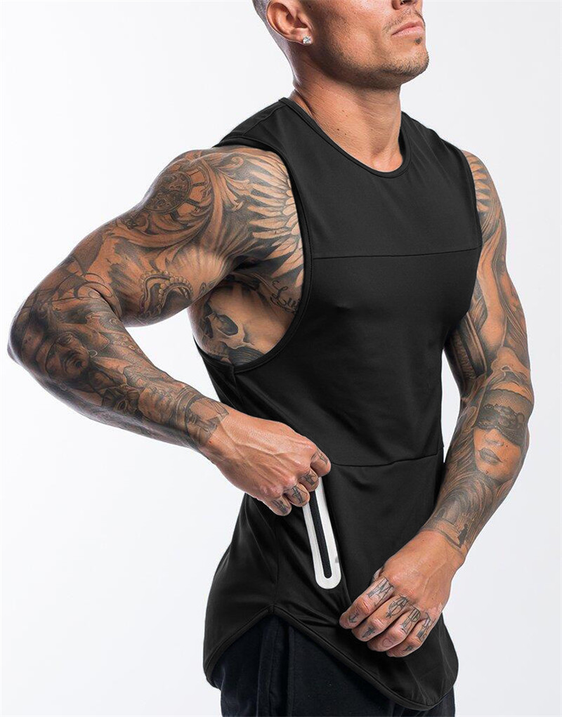 2019 Gyms Workout Sleeveless Shirt Running Tank Top Men Bodybuilding Clothing Fitness Mens Sportwear Vests Muscle Men Tank Tops 1