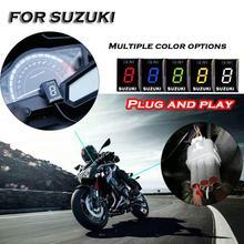 สำหรับ SUZUKI GSF 650 1250 Bandit GSXR 600 750 1000 650F Intruder 800 SV DL V Strom เกียร์จอแสดงผลตัวบ่งชี้รถจักรยานยนต์ความเร็วเมตร