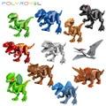 Конструктор динозавр, риж, тираннозавр, трицератопс, птеранодон, рапторы, Парк Юрского периода, игрушки для детей вечерние
