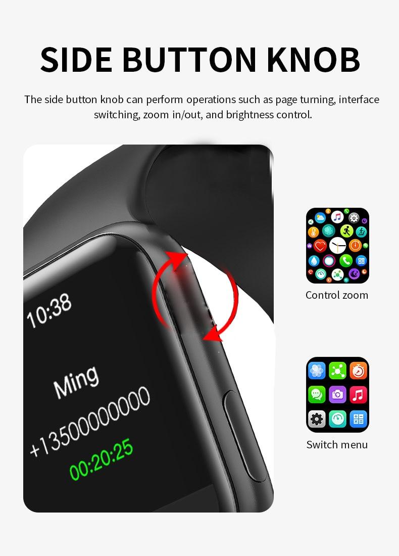 H61f8444c129a49a1a8bf95778b967f789 LONGET Original HW12 Smart Watch 40mm 320*320 Bluetooth call Blood oxygen waterproof smartwatch PK HW16 W56 W46 W26 IWO 6