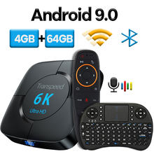 Transpeed Android 9,0 Bluetooth TV Box Google Stimme Assistent Youtube 6K 3D Wifi 2,4G & 5,8G 4GB RAM 64G Play Store Top Box(China)