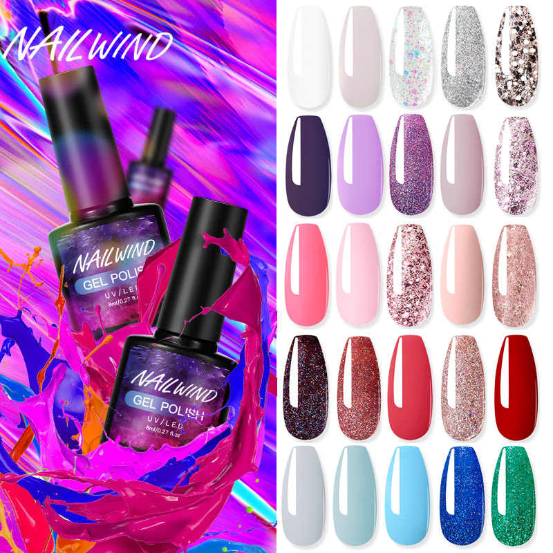 Nailwind Gel Nagellak Rainbow Manicure Art Voor Hybrid Vernis Poly Extension Base Top Coat Uv Permanente Nail Lak