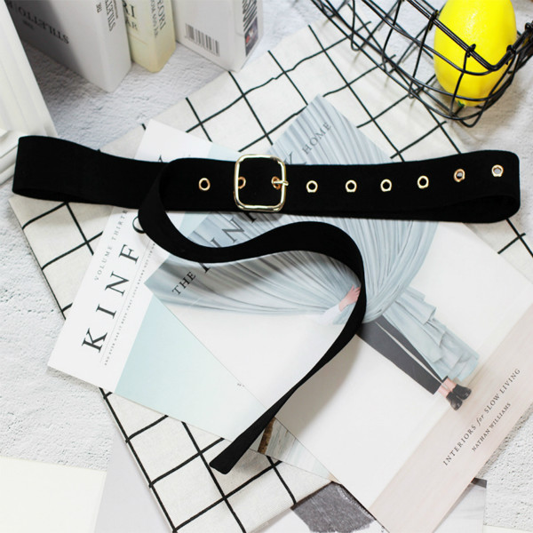 Retro Velvet Square Buckle Decorative Belt Waist Corset Omen Girls String Waistband Belt For Women Dress Jeans Pants Wholesale