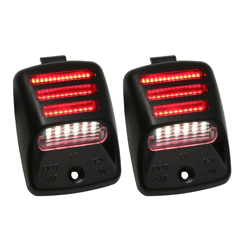 1 Pair Car LED License Plate Light Red Tail Running Light/Rear Fog Lamp for Tacoma Tundra 2005-2015 Car Styling Accessories