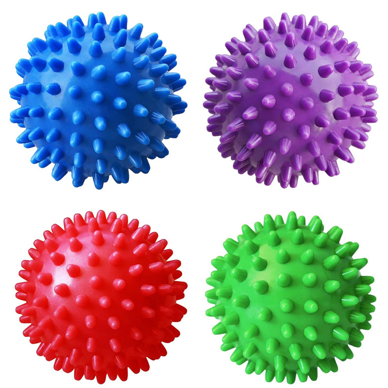 3 pouces balle de massage hérisson hérisson anti-stress enfants adultes autisme jouets sensoriels pour besoins spéciaux - paquet de 2