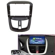 9 Polegada fáscia do carro adaptador de montagem de áudio kits de painel de navegação carro dvd quadro painel para peugeot 207 2002 2010