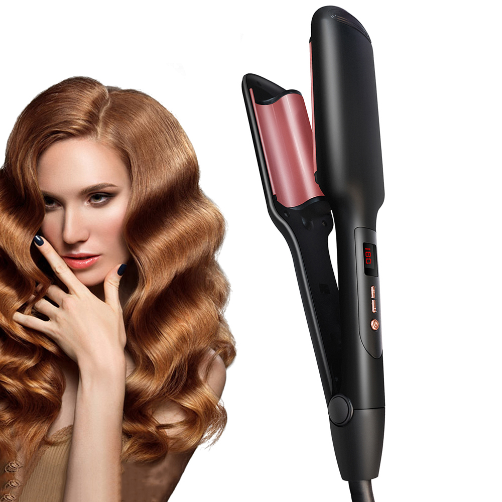 Professional Corrugated Hair Curler Egg Perm Splint Straightening Irons Tourmaline Ceramic Curling Iron Women Styling Tools