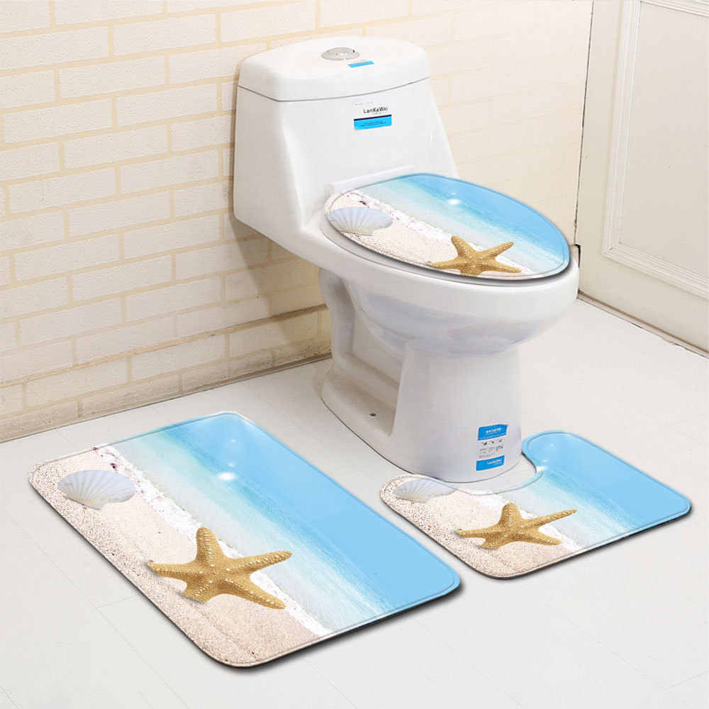3 個ノンスリップバスマットセット浴室カーペット敷物トイレマットセットソフトマイクロファイバー吸水浴室マットサンゴフロアマット
