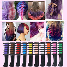 Hair Dye Comb Professional Disposable Hair Dye  Fast Convenient Carry Cosplay Temporary Party Beauty Salon Batik Hair Tools