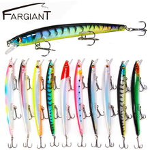 FARGIANT  Minnow Fishing Lure 3D Eyes 15g Crankbait Wobblers Artificial Plastic Hard Bait Fishing Tackle