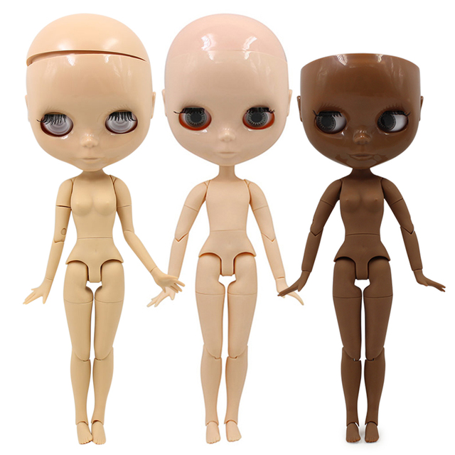 factory blyth doll joint body bjd toy without makeup shiny face for cutom doll DIY 1