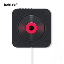 Kebidu taşınabilir CD çalar Bluetooth duvara monte CD müzik çalar MP3 FM ses radyo hoparlör Stereo 3.5MM kulaklık jakı ev