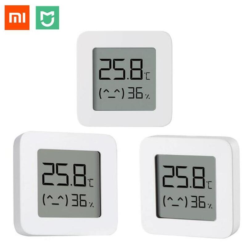 Xiaomi Mijia Nhiệt Kế Thông Minh 2 Bluetooth Nhiệt Độ Độ Ẩm Cảm Biến Kỹ Thuật Số LCD Nhiệt Ẩm Kế Đồng Hồ Đo Độ Ẩm Làm Việc Với Mijia Ứng Dụng