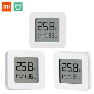 Image 1 - Xiaomi Mijia Smart Thermometer 2 Bluetooth Temperature Humidity Sensor LCD Digital Hygrometer Moisture Meter work with Mijia APP