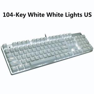 Image 5 - Mechaniczna klawiatura gamingowa 87/104 klawisze rosyjski/angielski USB przewodowa podświetlana LED gra klawiatury niebieski/czerwony przełącznik dla graczy komputerowych