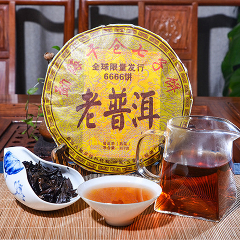 2006 Yr 357g China Yunnan Oldest Ripe Pu'er Tea Down Three High Clear Fire Detoxification Beauty For Lost Weight Green Food