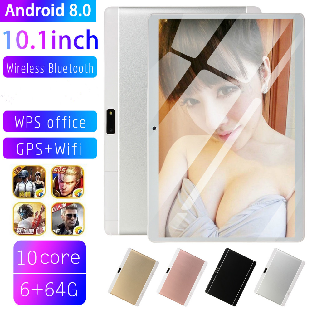 10.1 Inch Tablet Screen Mutlti Touch  Octa Core Ram 6GB ROM 128GB Camera 5MP Wifi 10 Inch Tablet 4G LTE Pro Pc Android 8.0