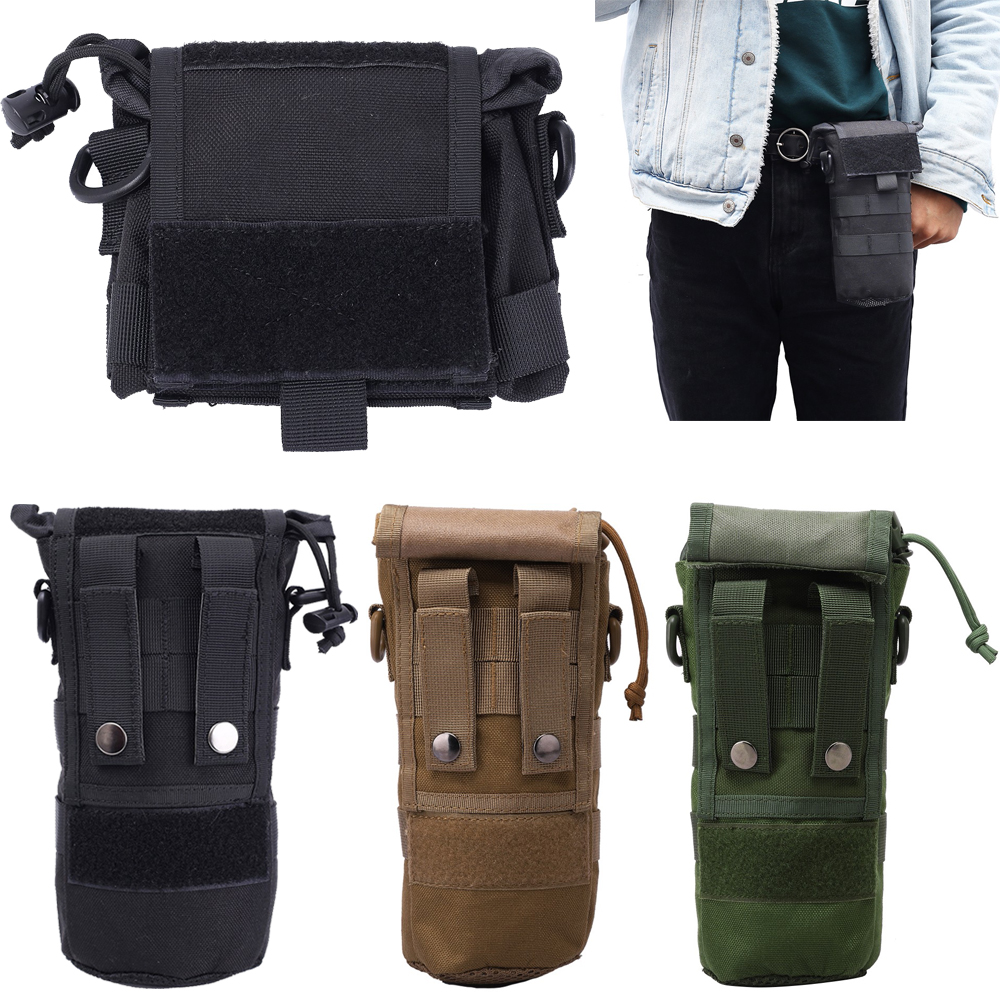Molle Pouch For Outdoor Sports Hunting Military Tactical Airsoft Paintball Molle Radio Talkie Water Bottle Canteen Bag Pouch