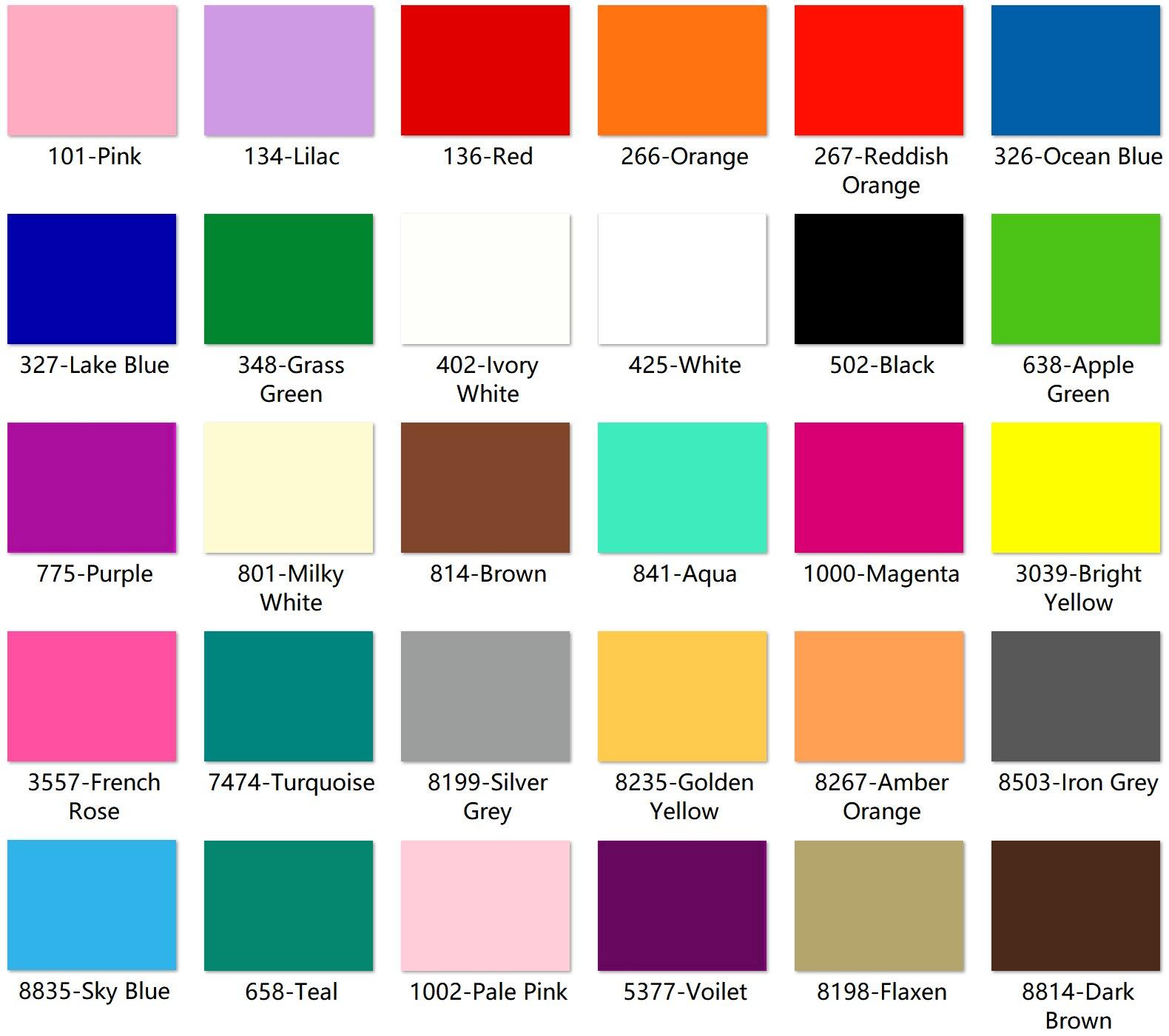 300mm x 200mm x 3 0mm L x W x T Multi Colors Acrylic PMMA Opaque