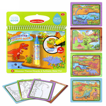 Magic Water Drawing Book Reusable Cartoon Coloring Book Doodle & Magic Pen Painting Drawing Board For Kids Toys Birthday Gifts magic water drawing book coloring book doodle with magic pen painting drawing board coloring book for kids toys toy no box