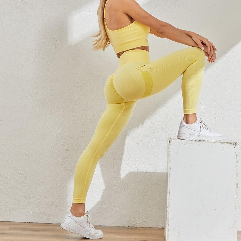 Sexy Women Leggings Bubble Butt Push Up Fitness Legging Slim High Waist Leggins Mujer Seamless Fitness Legging 4