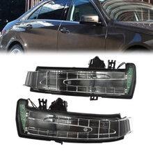 Espelho retrovisor para carro, esquerdo/direito, luz indicadora, seta, lente para mercedes w204 w212 w221 2010 2011 2012 2013