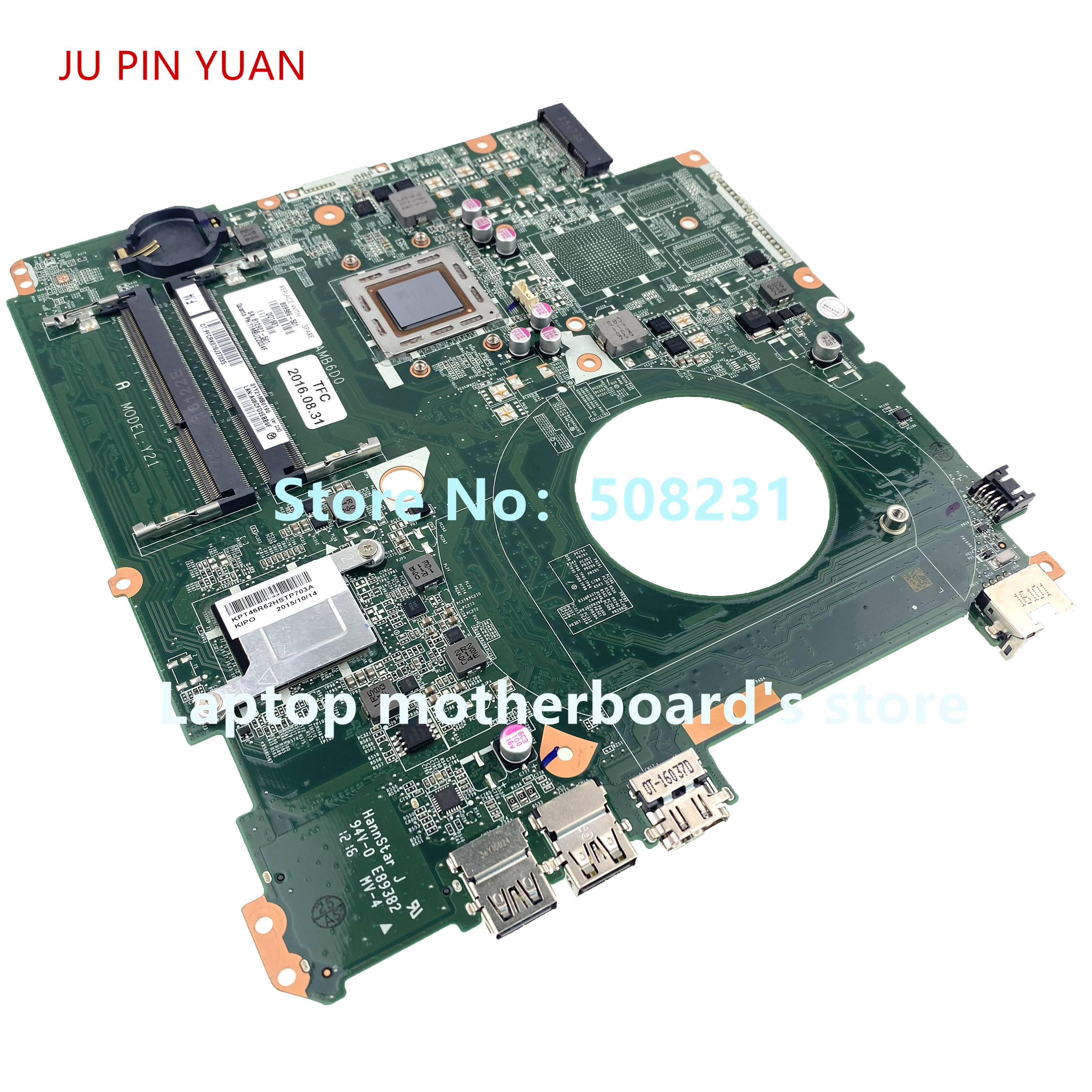 JU PIN YUAN For HP 17-P047CL 17-P 17-F Laptop Motherboard Y21A DAY21AMB6D0 809986-001 809986-501 809986-601 100% Fully Tested