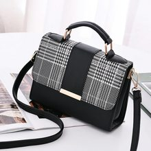 Women Fashion PU Leather Shoulder Small Flap Crossbody Handbags Top Handle Tote Messenger B