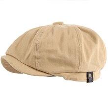 Весенне летняя хлопковая простая восьмиугольная шапка для мужчин