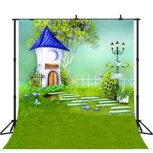 Lyavshi виниловый Сказочный Дом фото фон деревья цветы птица пастбище дети декорации фотографии фоны