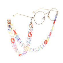 70cm Women Chic Glasses Acrylic Chains Cord Fashion Eyewear Multi-COLOR Lanyard