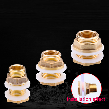 цена на 1 PCS Water Tank Connector 1/2/3/4/G1 Copper Joint fittings Fish Tank Drainage Male Female Connector