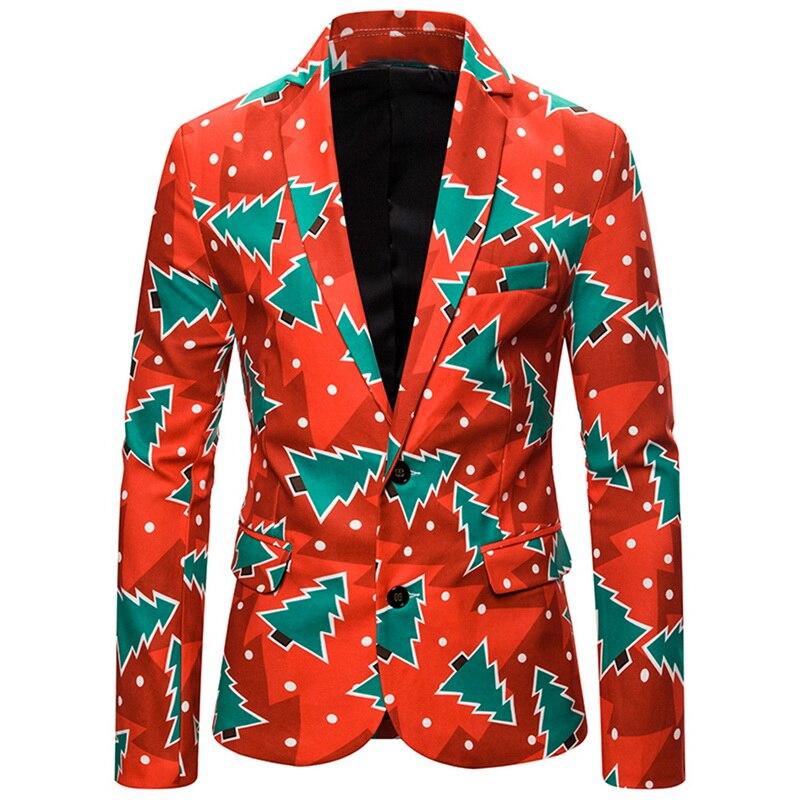 MJARTORIA 2019 Winter Newest Christmas Party Wears Men's Slim Fit Suits Fashion Party Christmas Suits Coat For Men
