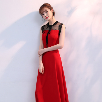 Make evening dress skirt to show thin female long noble temperament temperament socialite party conference party dress