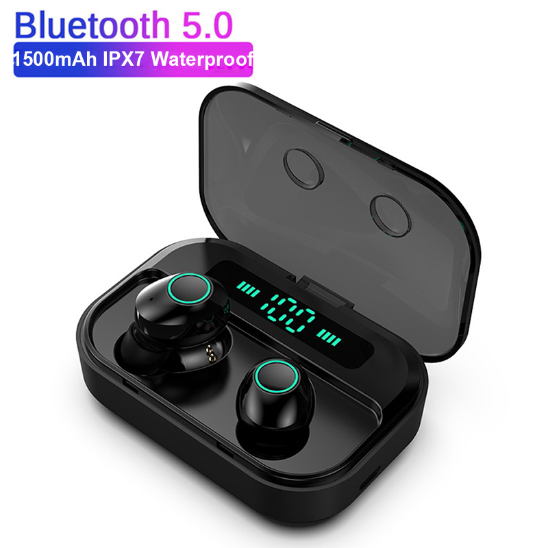 M7 <font><b>TWS</b></font> Bluetooth V5.0 Earphone Stereo Wireless Earbus MINI HIFI Sound Sport Earphones Handsfree Gaming Headset with Mic image