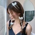 Xwen Gleichen Stil Haar Band Perle Geflochtene Haar Kette Haarnadel 2021 Neue Haar Seil Quaste Schmetterling Kopfschmuck Weibliche Gebunden Kopf seil