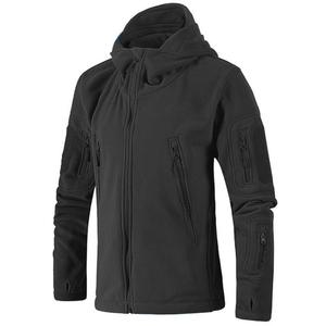 Image 2 - Chaqueta con capucha a prueba de viento para hombre, forro polar táctico para tiro de montaña, micro térmico, polar, ropa militar transpirable