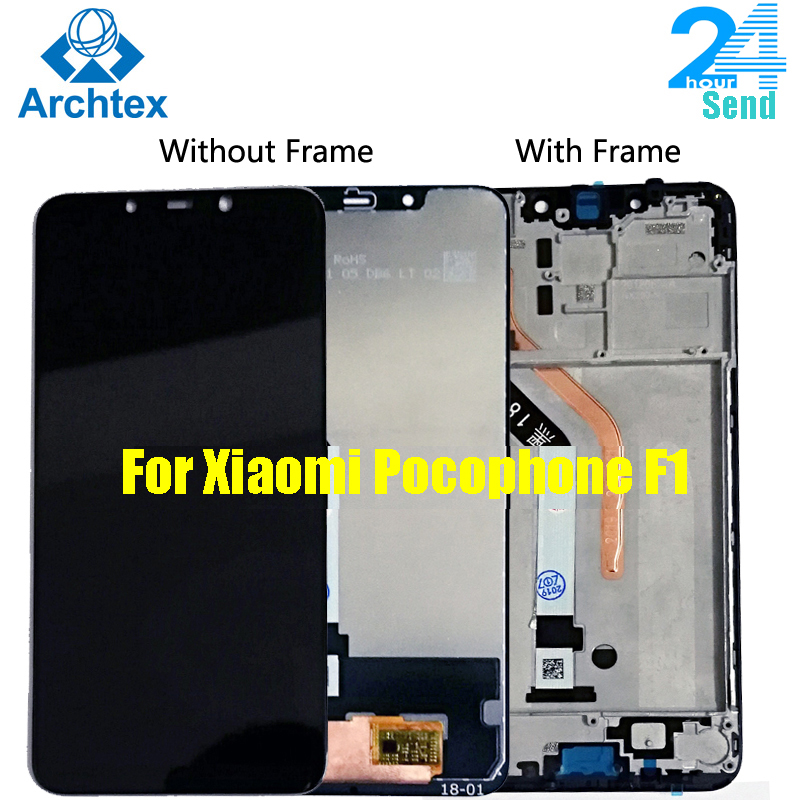 New For Xiaomi Pocophone F1 LCD Display And Touch Screen With Frame Digitizer Assembly For Xiaomi Pocophone F1 Screen In Stock