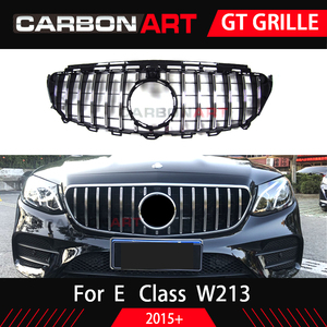 Image 3 - W213 GT GrilleสำหรับMb W213 ด้านหน้ากันชนGT Grill Fit E CLASS W213 C238 E200 E250 E300 E320 E350 2016 2018 Front Grille