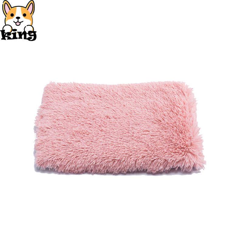 ぬいぐるみペット毛布犬のベッド大型犬 2020 新ソリッドカラーの犬ベッド子猫パッド犬のベッドマットふわふわ犬のベッド小型ソファ