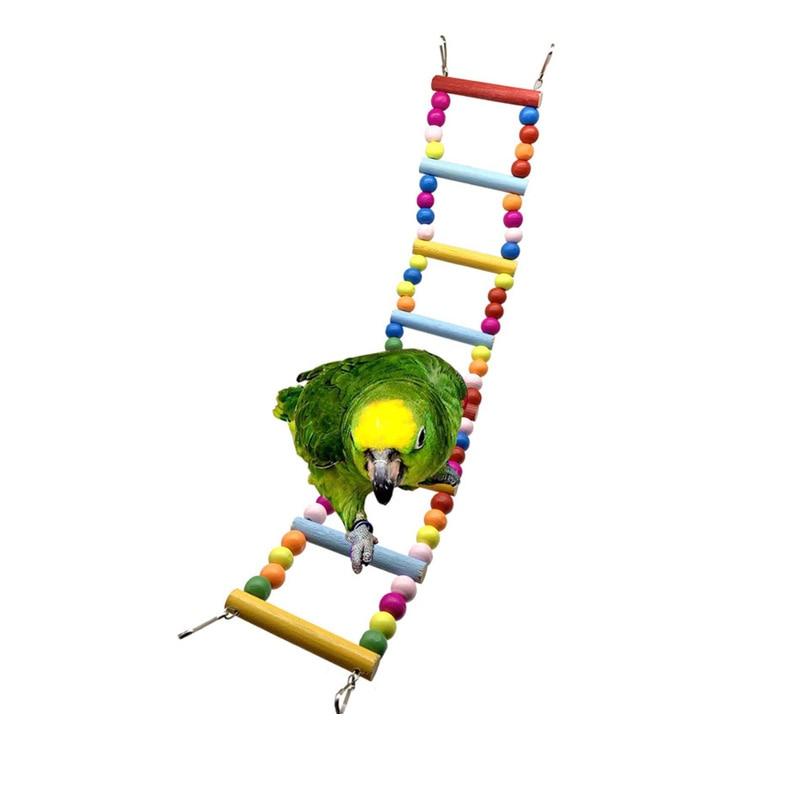 pendurado hammock bell pet escalada escadas cockatiels