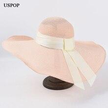 USPOP 2020 женщин ВС шляпы летом широкими полями французский стиль хлопок год воздухопроницаемый пляж