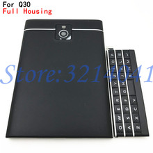 Original For BlackBerry Passport Q30 Full Complete Mobile Phone Housing Cover Case Back cover +Top Cover + English Keypad +Logo