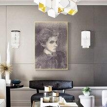 Pintura em tela retro cor minimalista figura pintura cartaz impressão a óleo fresco sala de estar quarto decorativo