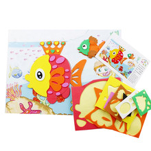 3D EVA Foam Sticker Puzzle Toys For Kids Girl action Learning Education Toys Kids Birthday Party Gift DIY Cartoon Animal(China)