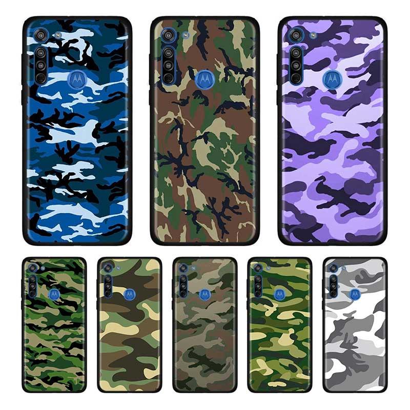 Camouflage Camo Military Army Soft Case For Motorola Edge Plus Moto G Stylus G8 G Power G8 Plus Play One Hyper E6s Case Shell
