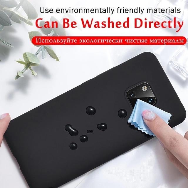 Original Liquid Silicone Phone Case For Huawei P30 P20 P40 Mate 20 30 Honor 20 Lite Pro P Smart 2019 Luxury Soft Protector Cover 4
