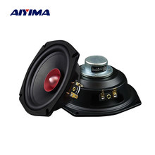 Aiyima 2 pçs 5.25 Polegada unidades alto-falante de alta fidelidade gama completa 4 8 ohm 40w ndfeb ímã altifalante música de teatro em casa som alto-falante