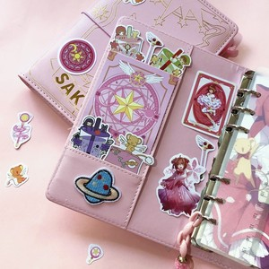 Image 5 - 3 arten Karte Captor Sakura Anime Action Figure Gedruckt Papier Handbuch Magie Notebook Schöne Mond Sterne Tagebuch Buch Schreibwaren Set
