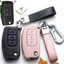 Leather Car Remote Key Cover Case For Ford Fiesta Focus 2 Ecosport Kuga Escape Falcon B Max C Max Eco Sport Galaxy For Car